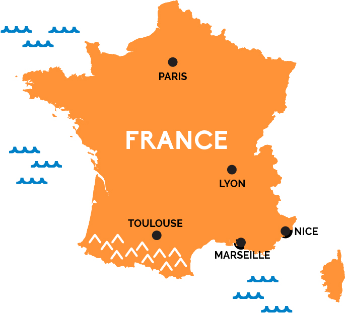 Map of france for Map of france