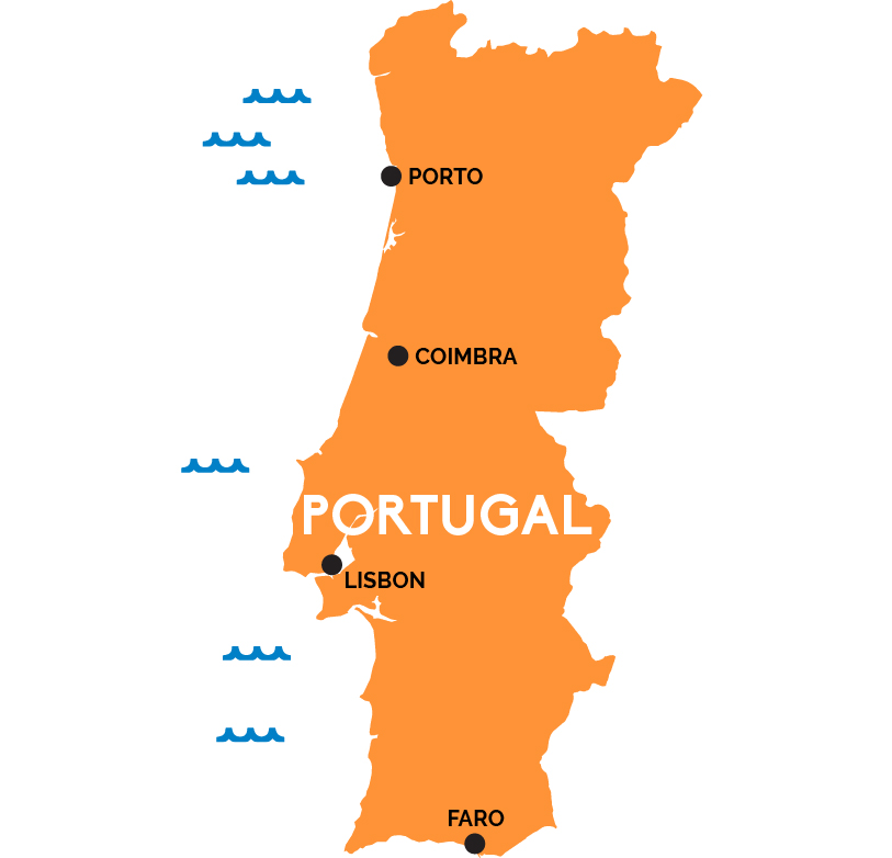 Map Of Portugal RailPasscom - Portugal map