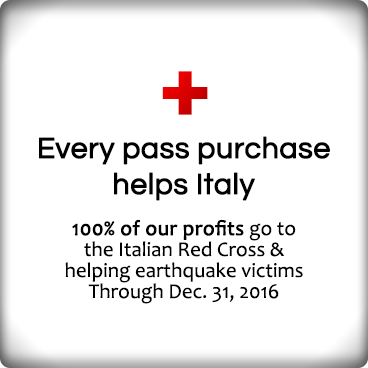 Every pass purchase helps Italy