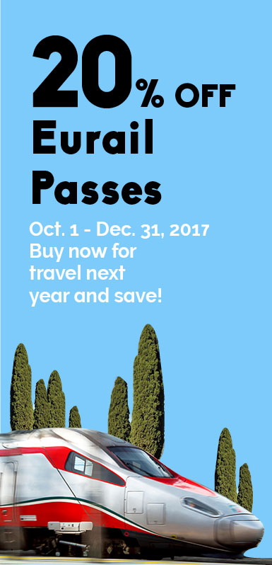 20% Off Eurail Passes