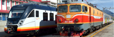 Trains in Montenegro