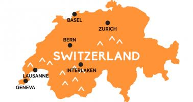 Map of Switzerland