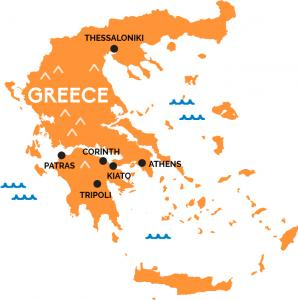 Eurail select pass 4 countries bulgaria greece italy map of greece map of italy gumiabroncs Gallery