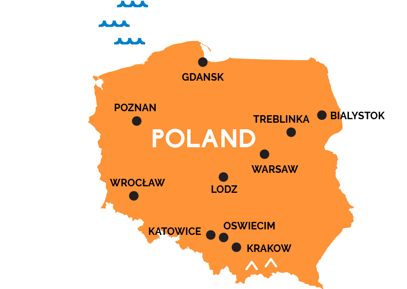 Map Of Poland Warsaw Map of Poland | RailPass.com