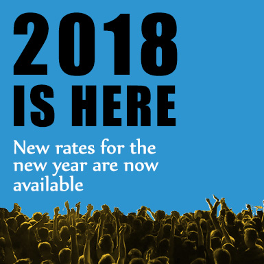 New rates for new year